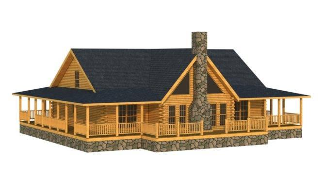 Abbeville Log Home Cabin Plans