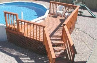 Above Ground Pool Deck Plans Wood