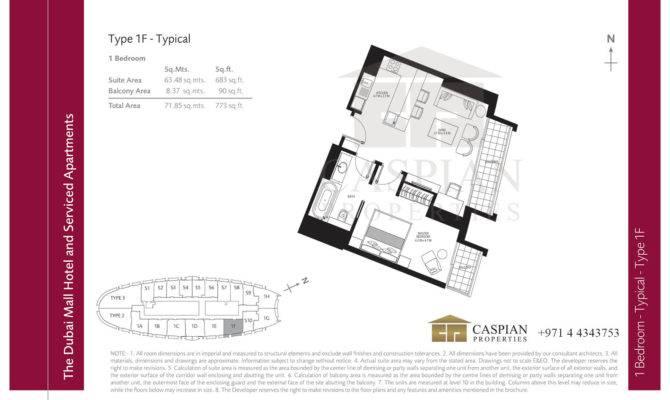 Address Dubai Mall Hotel Floor Plans