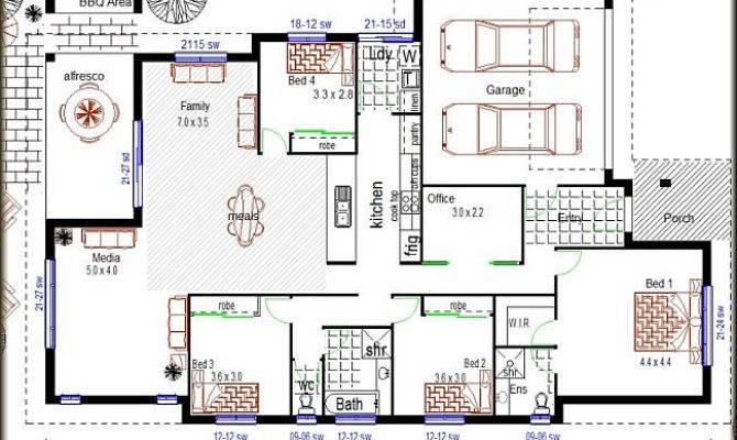 Simple Affordable 4 Bedroom House Plans Placement Home