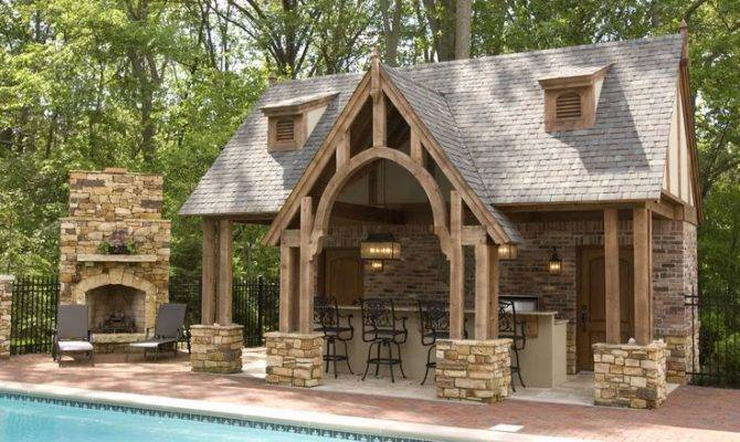 Amazing Pool House Love Covered Patio Outdoor Kitchen