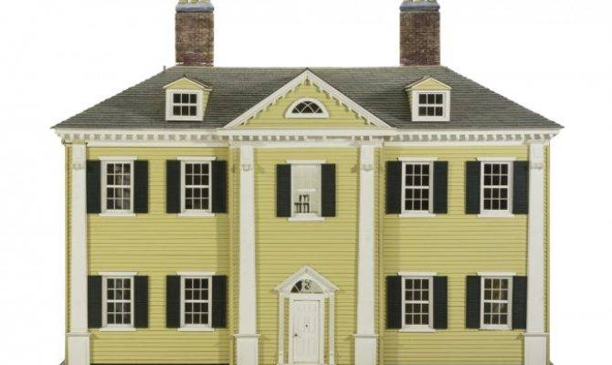 American Federal Style House Height Width Lot