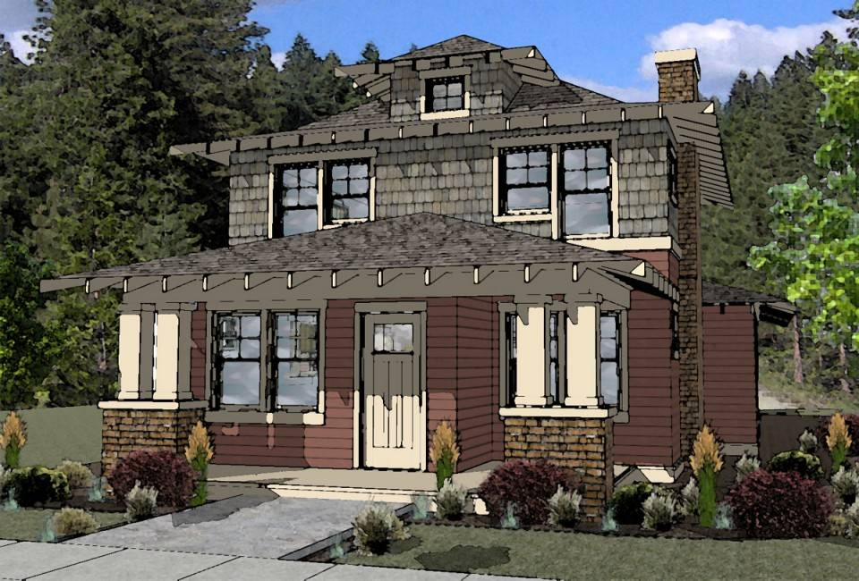 American Foursquare Style House Plan Bend Oregon Boards Plans 223383 House Plans Bend Oregon House Plans 2017