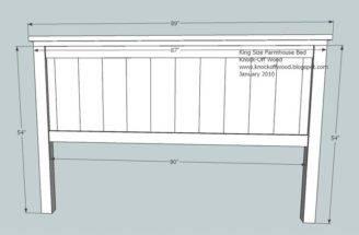 Ana White Build Farmhouse King Bed Plans Easy Diy