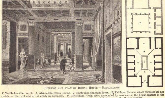Ancient Roman House Villa Floor Plan