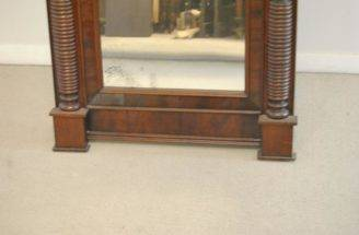 Antique American Federal Style Flamed Mahogany Mirror Leffler