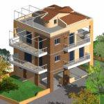 Architectur Project Three Storey Residential Building Made