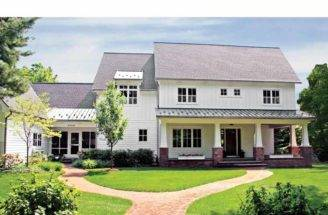 Back Contemporary Farmhouse Plans