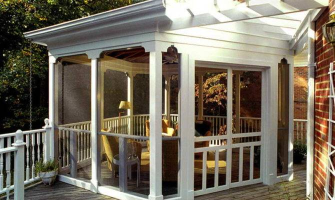 Back Porches Ideas Dominating White