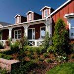 Barn Style Ranch Home Spacious Front Porch White Detailing