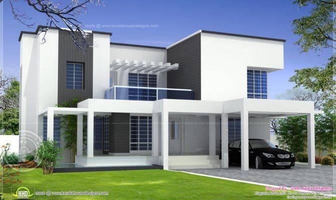 Based Box Type Modern Home Design Kerala Floor Plans