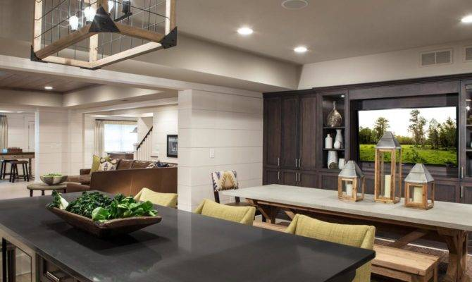 Basement Open Floor Plan Pineapple House Interior Design