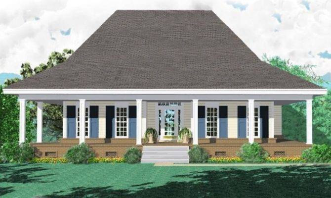 Bath Southern Style House Plan Wrap Around Porch Plans