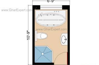 Bathroom Floor Plan Layout Feet