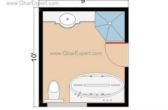 Bathroom Plans Layouts Square Feet