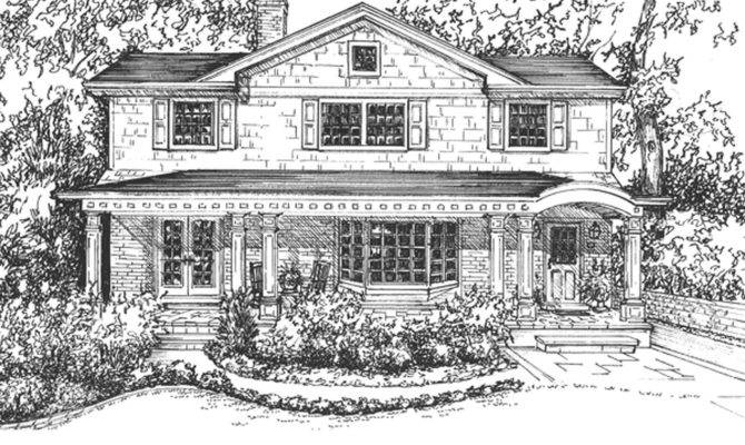 Beach House Drawing Rendering Hand Drawn
