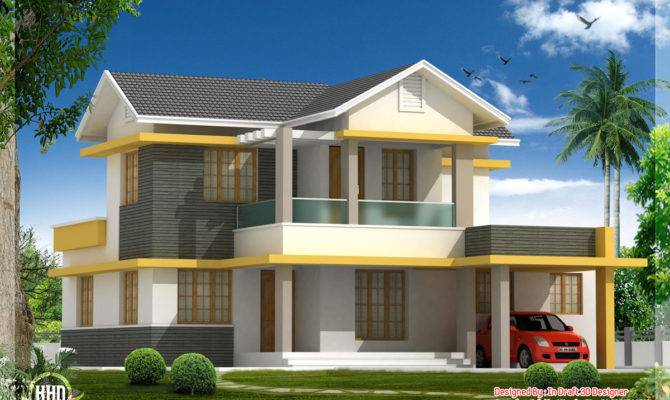 Beautiful Bedroom House Elevation Feet Indian