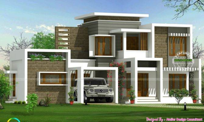 Beautiful Box Type Contemporary Home Kerala Design Floor