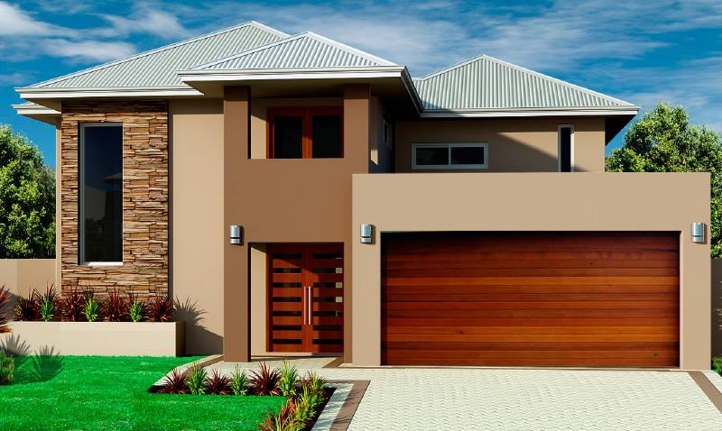 Beautiful double storey houses house plan home building Modern double storey house plans