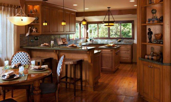 Beautiful Open Kitchen Dining Space Craftsman Style Interiors Design