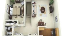 Bedroom Apartment Floor Plans Garage