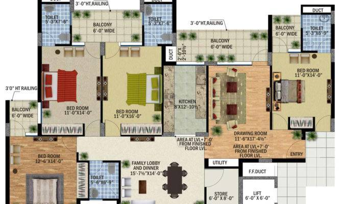 Bedroom Apartment Floor Plans