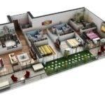Bedroom Apartment House Plans Three