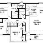Bedroom Bath House Plan Less Than Square Feet
