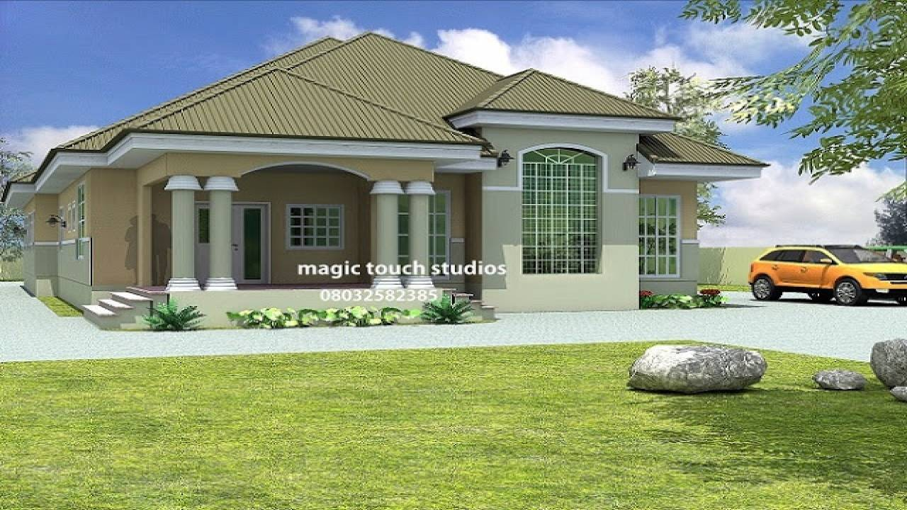 Stunning bedroom bungalow house plan nigeria ghana home building plans with building plans in ghana