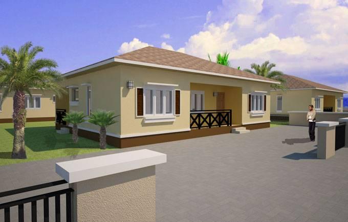three bedroom house plan in nigeria bedroom home plans
