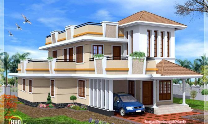 Bedroom Double Storey House Kerala Home Design Floor Plans