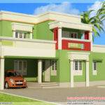 Bedroom Flat Roof Home Design Architecture House Plans