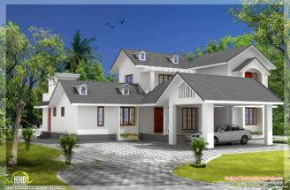 Bedroom House Gable Roof Type Design Kerala