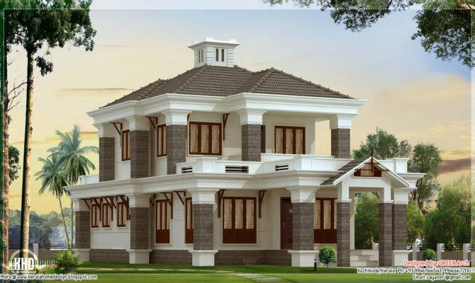 Bedroom Nice Villa Elevation House Design Plans
