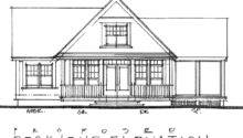 Bedroom Post Beam Cottage Plan Retirement Home