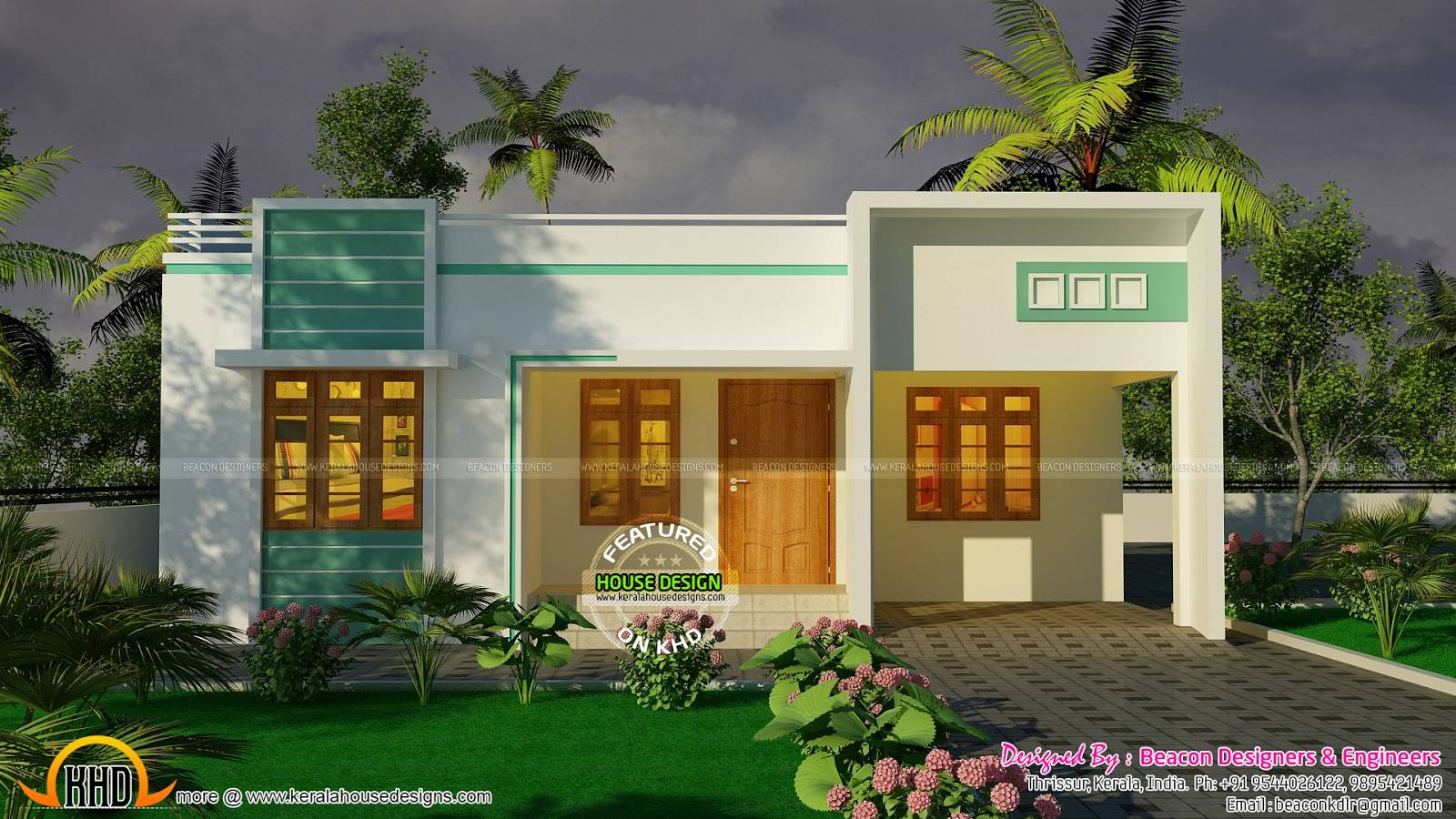 Bedroom Small Budget House Plan Kerala Home Design Floor Plans 412779 Small House Plan Ch45 Home Design