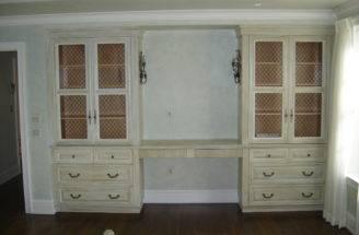Bedroom Vanity Custom Antique Painted Finish Design Ward