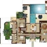 Bedroom Villa Floor Plan