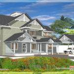 Bedroom Western Style House Kerala Home Design Floor Plans
