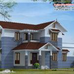 Bhk Sloping Roof Home Design Kerala House Idea