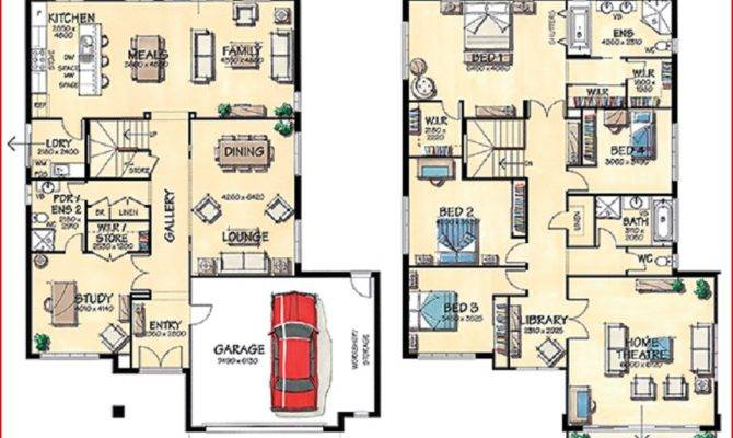 Big Homes Floor Plans House Layout Design