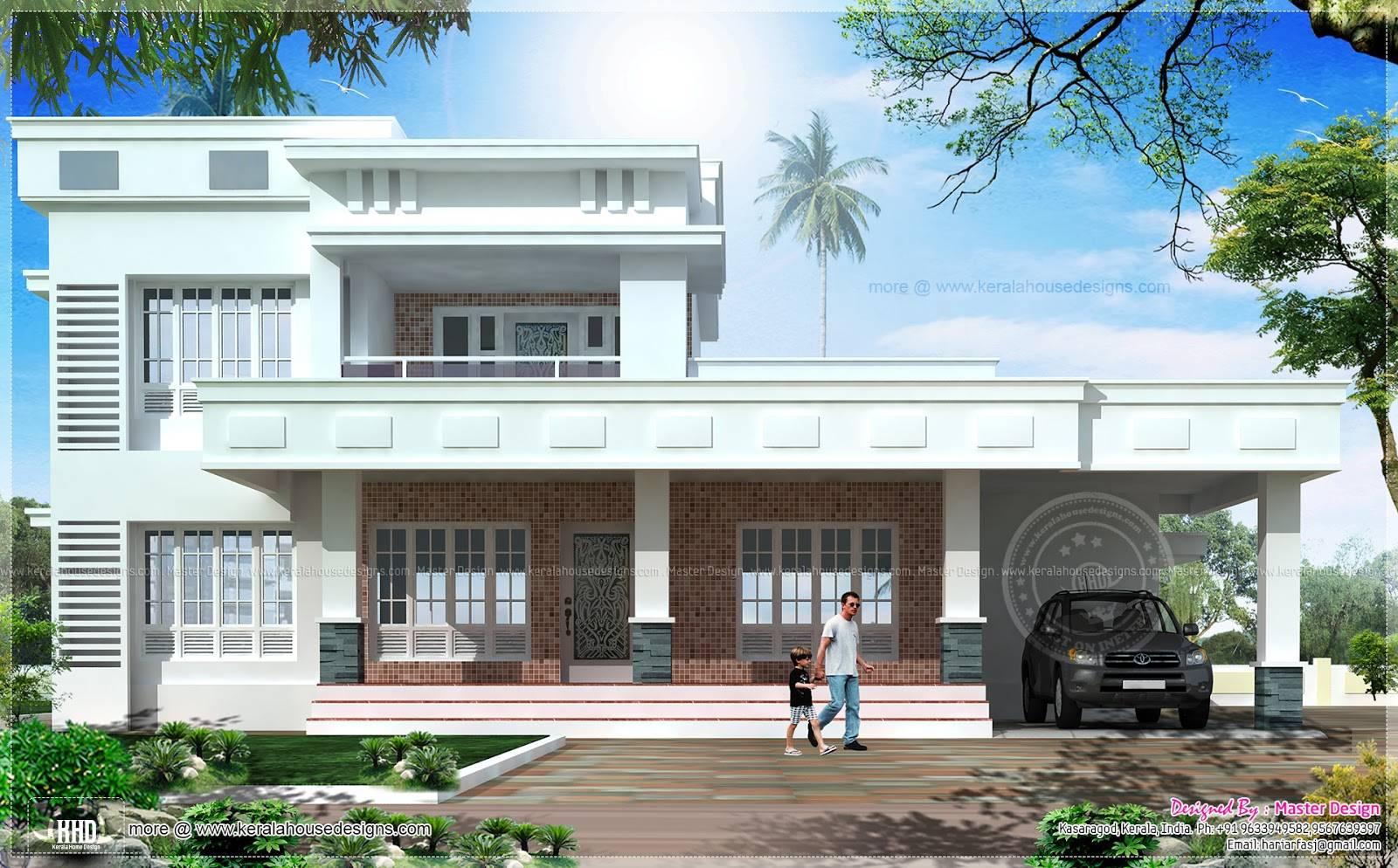 box model east face vastu house design home kerala plans