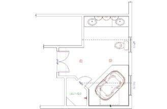 Bridge Lewisboro Westchester Master Bathroom Suite Floor Plan