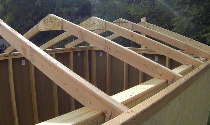 Build Shed Part Roof Rafters
