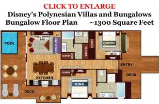 Bungalow Floor Plan Disney Polynesian Villas Bungalows