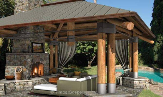 Bungalow Outdoor Gazebo Structure Backyard Room Design