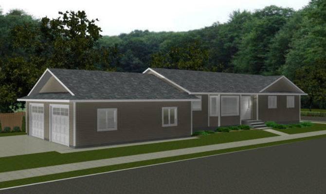 Bungalow Plan Back Attached Garage Designs