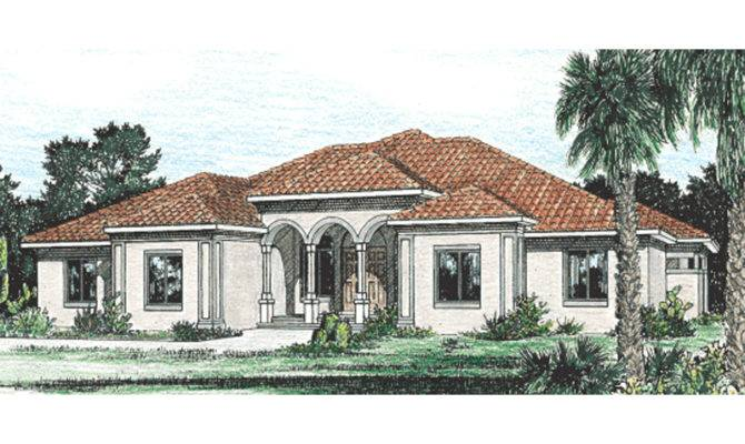 Burdella Stucco Home Plan House Plans More