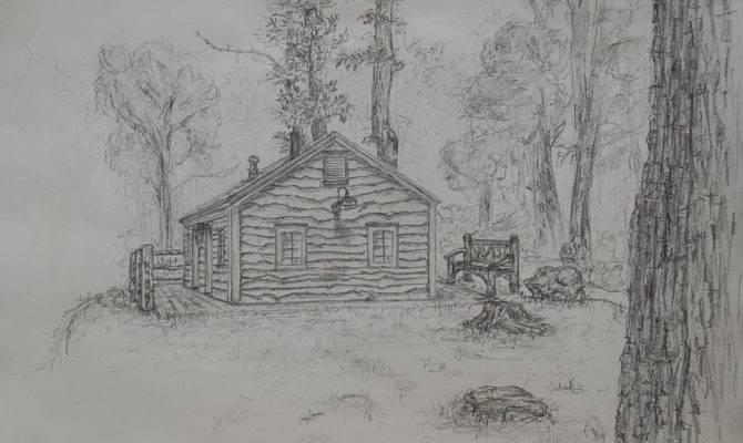 Cabin Drawing Liliotheone Newgrounds