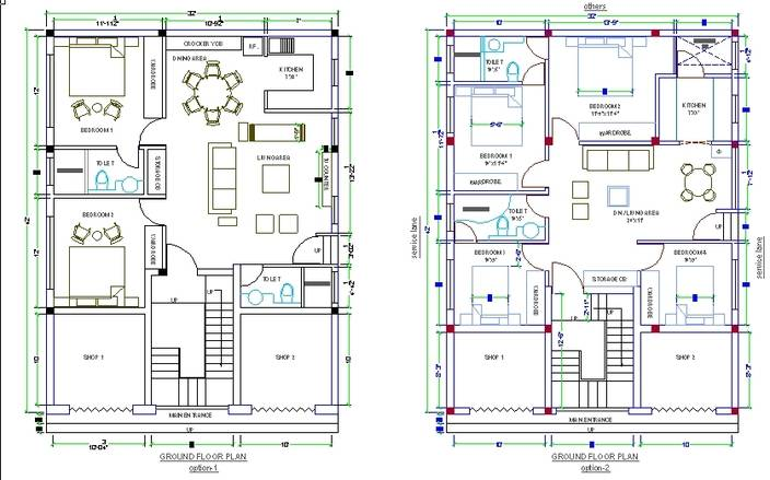Cad Drawing House Design Dwg Home Building Plans 63873